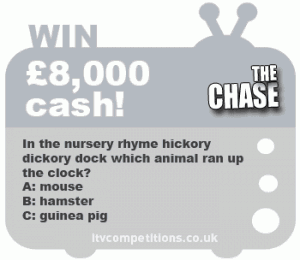 Example of The Chase competition question