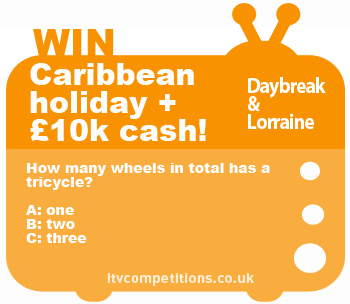 ITV Lorraine & Daybreak competition question