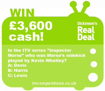 Dickinsons Real Deal competition - 17th December 2012