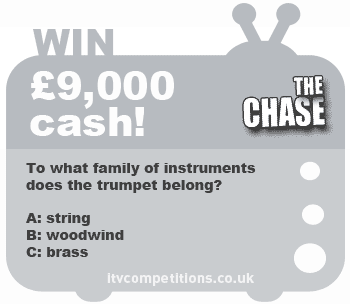 The Chase competition - win £9,000 cash!