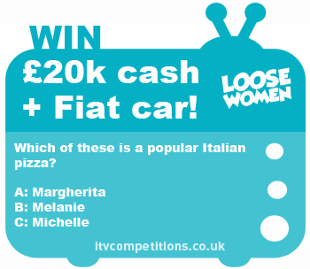 Loose Women competition - win a Fiat 500 car + £20k cash!