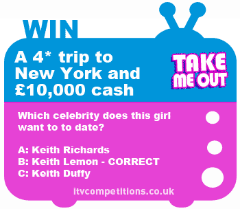 Take Me Out competition - win £10k cash + New York