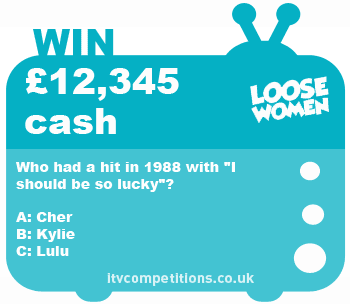 Loose Women competition - win £12,345 cash prize