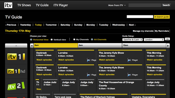 All about iTV TV Guide