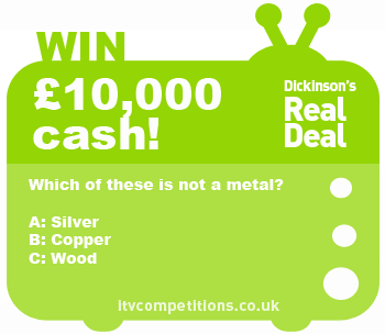 Dickinsons-Real-Deal-competition-4-Oct-2013-cash-prize