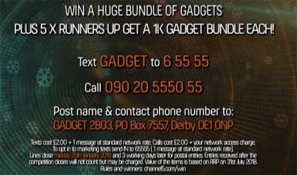 Channel 5 Gadget Show comp