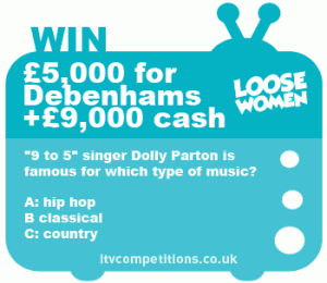 Loose Women competition question & prize
