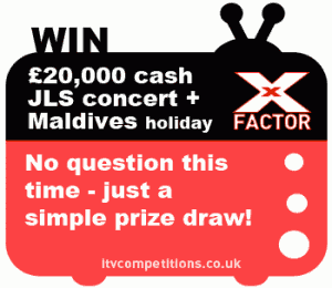 X Factor competition prize example