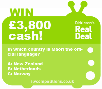 Dickinsons Real Deal competition question - 02.10.12