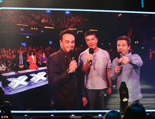 Ant and Dec National TV Award Winners