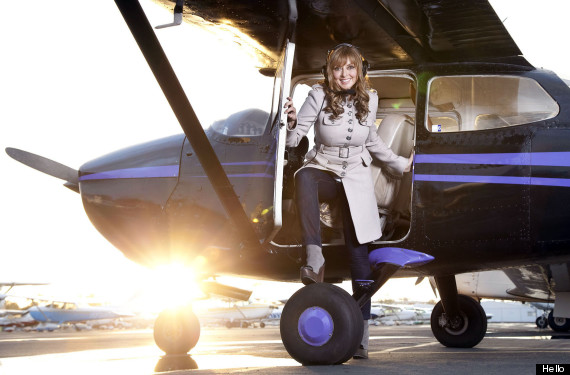 Carol Vorderman is learning how to fly