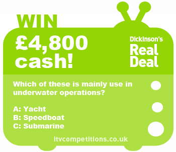 Dickinson's Real Deal competition – win cash (Wed 23/01)Dickinson's Real Deal competition – win cash (Wed 23/01)