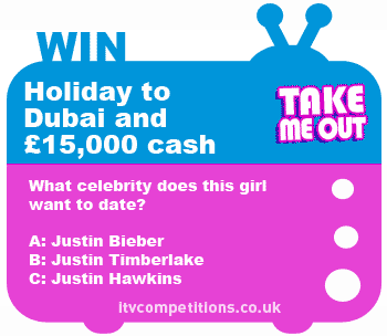 Take Me Out competition - win a trip to Dubai + £15,000 cash