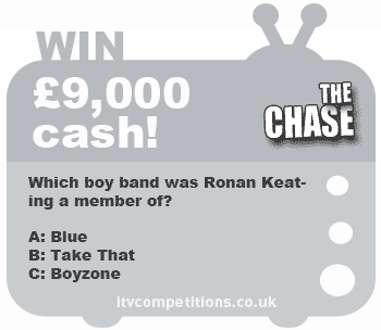 The Chase competition - win £9,000 cash (14-18th January 2013)