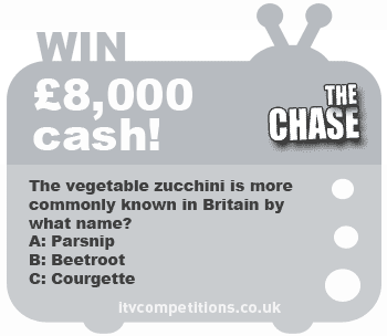 The Chase competition - win £8,000 cash! ITV