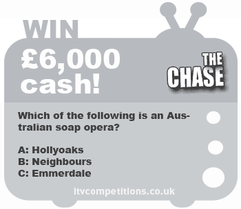 The Chase competition - win £6,000 cash! (7-12 January)