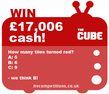The Cube competition - Saturday 11th May 2013