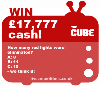 The Cube competition - win £17,777 cash prize!