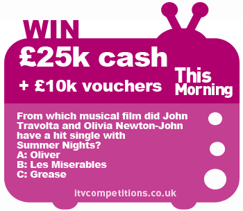 This Morning Competition £25,000 cash + £10,000 shopping vouchers (10th - 14th June 2013)