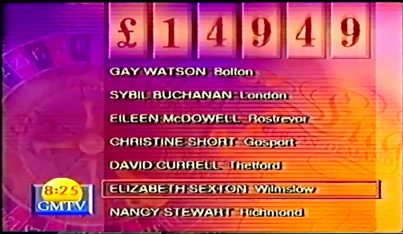GMTV ITV competitions - computer pick a winner