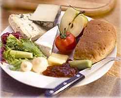 Sample ploughman's lunch